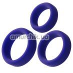 Набор из 3 эрекционных колец A-Toys Cock Rings Set 768015, фиолетовый - Фото №1