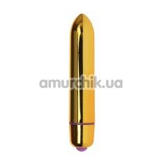 Клиторальный вибратор Mini Vibe Ultra Power, золотой - Фото №1