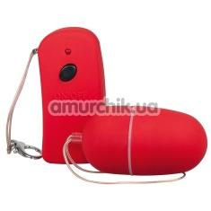 Виброяйцо с дистанционным пультом Lust Control красное - Фото №1