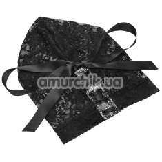 Маска Steamy Shades Lace Hood, чёрная - Фото №1