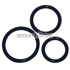 Набор из 3 эрекционных колец Cock Ring Set, черный