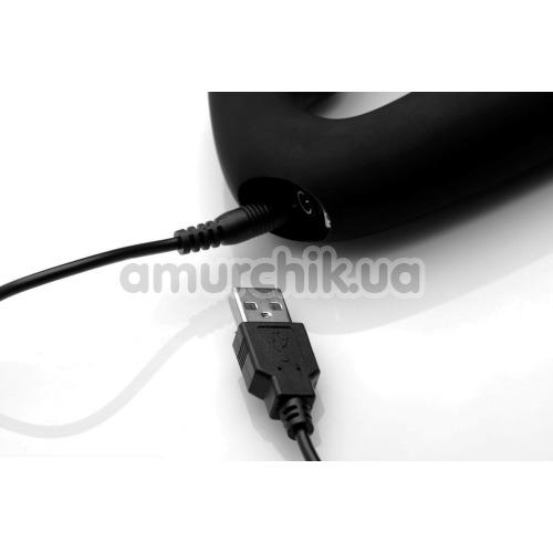 Безремневой страпон с вибрацией Strap U Tri-Volver, черный