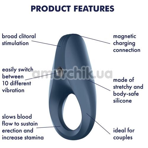 Виброкольцо Satisfyer Rocket Ring, синее