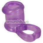 Насадка на пенис Sleeve & Ball Ring, фиолетовая