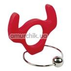 Эрекционное кольцо Cockring Bull, красное - Фото №1