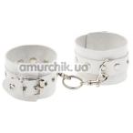 Наручники sLash Leather Double Fix Hand Cuffs, белые - Фото №1