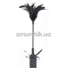 Стек с пушком Loveshop Carrot and Stick, черный - Фото №1