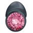 Анальная пробка с розовым кристаллом Dorcel Geisha Plug M, черная - Фото №9