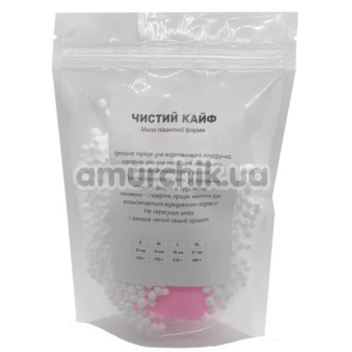 Мыло в виде пениса с присоской Чистий Кайф S, розовое
