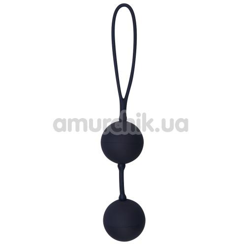 Вагинальные шарики Black Velvets Silicone Balls, черные