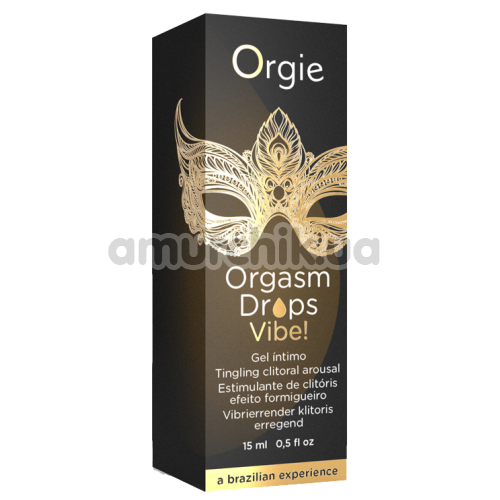 Стимулирующая сыворотка с эффектом вибрации для женщин Orgie Orgasm Drops Vibe, 15 мл