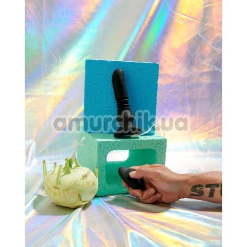 Анальный вибратор с пульсацией Thunderplugs Silicone Vibrating & Thrusting Plug with Remote Control, черный