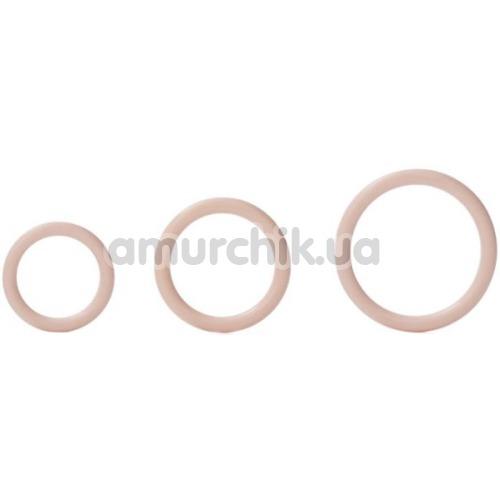 Набор эрекционных колец Silicone Support Rings, телесный - Фото №1