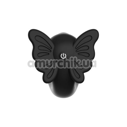 Вибратор клиторальный и точки G Midnight Magic Black Butterfly G, черный