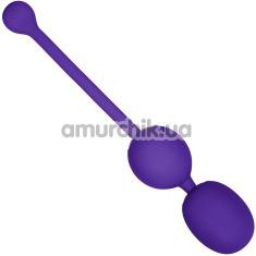 Вагинальные шарики с вибрацией Rechargeable Dual Kegel, фиолетовые - Фото №1