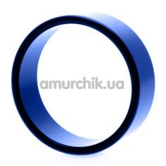 Эрекционное кольцо Hot Metal #2, 4.5 см синее - Фото №1