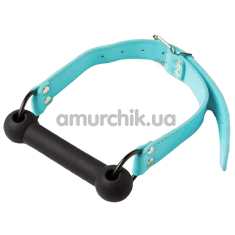 Кляп DS Fetish Silicone Luxury Fetish Gag, черно-голубой - Фото №1