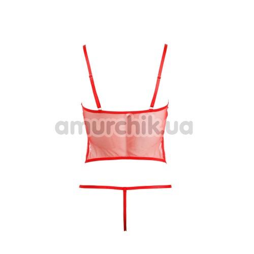 Комплект Cottelli Collection Lingerie 2631571 красный: майка + трусики-стринги