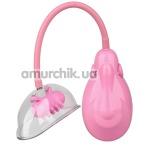 Вакуумная помпа для вагины с вибрацией Pleasure Pumps Vibrating Vagina Pump, розовая - Фото №1
