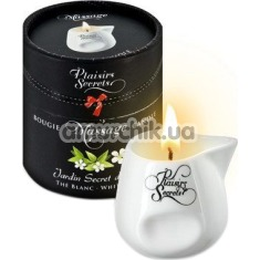 Массажная свеча Plaisirs Secrets Paris Bougie Massage Candle White Tea - белый чай, 80 мл - Фото №1
