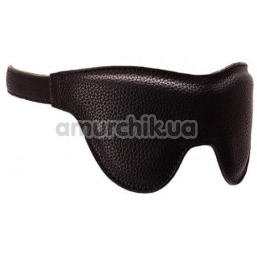 Маска на глаза Pornhub Faux Leather Mask, черная