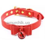 Ошейник Loveshop Bow and Bell, красный - Фото №1