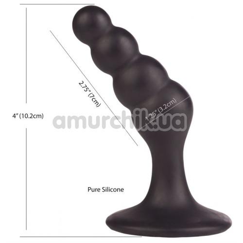 Стимулятор простаты Dr. Joel Kaplan Silicone Beaded Prostate Probe, черный