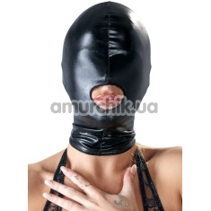 Маска Bad Kitty Naughty Toys Hood Mouth Mask, черная - Фото №1