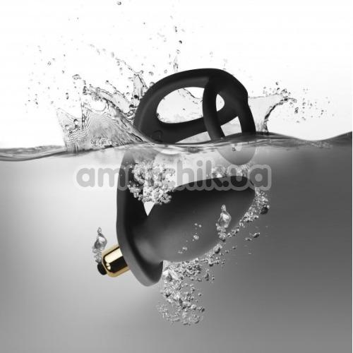 Вибростимулятор простаты с эрекционным кольцом Rocks-Off RO-Zen, черный