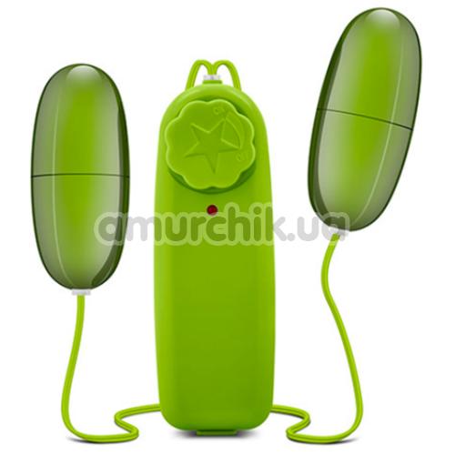 Набор из 2 виброяиц B Yours Double Pop Eggs, зеленый - Фото №1