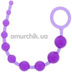 Анальная цепочка Pleasure Beads, фиолетовая - Фото №1