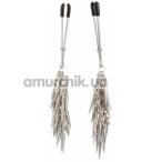 Зажимы для сосков с шипами Lucky Bay Silver Metall, серебряные - Фото №1