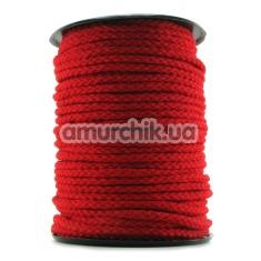 Веревка Bondage Rope, красная - Фото №1