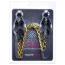 Зажимы для сосков японские с цепочкой Lucky Bay Nipple Play Gold Chain, серебряные - Фото №2
