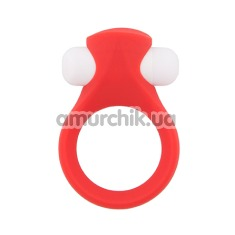 Виброкольцо Lit-Up Silicone Stimu-Ring 2, красное