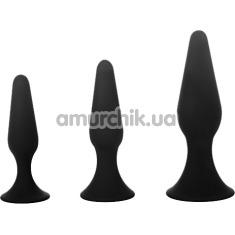 Купить Набор из 3 анальных пробок Trubliss Anal Pleasure Starter Kit Eros, черный