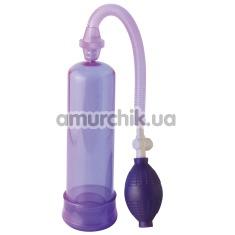 Помпа для увеличения пениса Beginners Power Pump фиолетовая - Фото №1