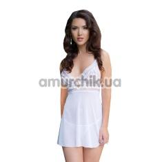 Комплект Vanessa белый: комбинация + трусики-стринги - Фото №1