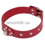 Ошейник Leather Restraints Collar, красный - Фото №1