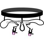 Трусики-стринги с зажимами для половых губ Bad Kitty Naughty Toys Pearl String with Silicone Clamps - Фото №1