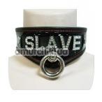 Ошейник с креплением для поводка Slave, черный - Фото №1