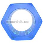 Эрекционное кольцо Get Lock Nust Bolts Cock Ring, синее - Фото №1