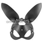 Маска зайчика Fetish Tentation Enjoy Pain Adjustable Bunny Mask, черная - Фото №1