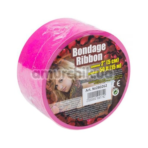 Бондажная лента sLash Bondage Ribbon, розовая