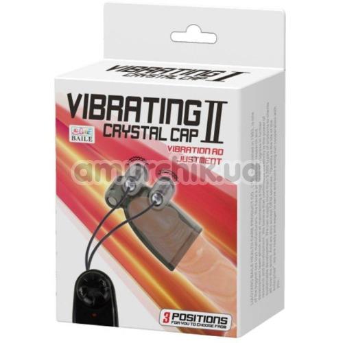 Мастурбатор для головки члена с вибрацией Vibrating Crystal Cap II, черный