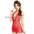 Комплект Carmen красный: комбинация + трусики-стринги - Фото №1