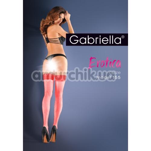 Чулки Gabriella Erotica Calze 155, красные