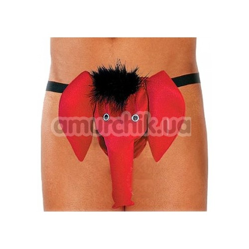 Трусы-стринги мужские Thong красные слоник (модель 4416)