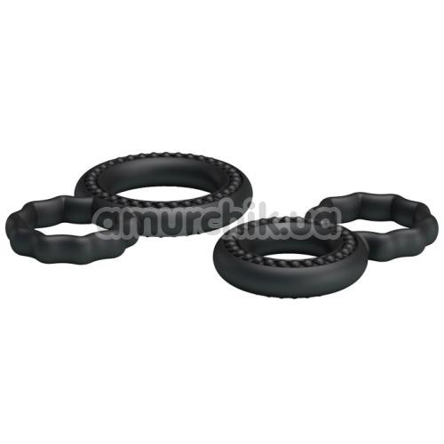 Набор из 2 эрекционных колец Ring BI-0507, чёрный