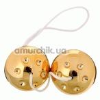 Вагинальные шарики Gold Balls, золотые - Фото №1